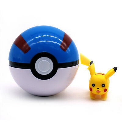 7-10cm Pokemon Pokeball Pop-up Cosplay Master Ultra GS Ball&Pikachu Monsters