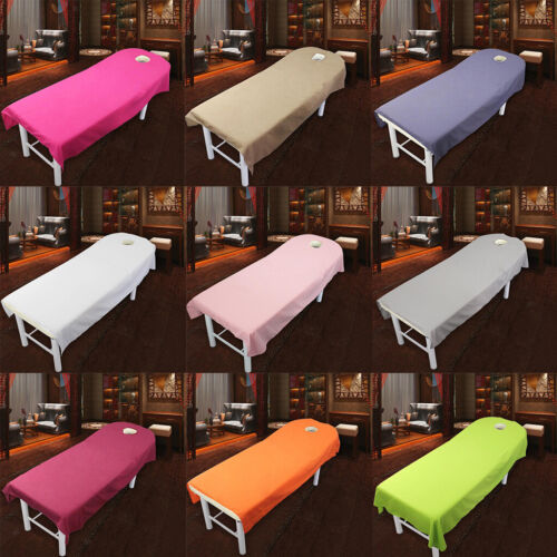 10Pcs Beauty Massage Bed Cover Salon Spa Sheet Face Breath Hole Bedding
