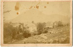 2019 DernièRe Conception France, Auvergne, Fontanas, Maisons, Ca.1870, Vintage Albumen Print Vintage Albu Vente D'éTé SpéCiale