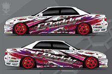 Car Side Full Color Graphics Vinyl Sticker Drift Paint Custom Body Decal
