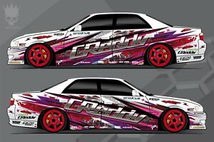 Details About Car Side Full Color Graphics Vinyl Sticker Drift Paint Custom Body Decal