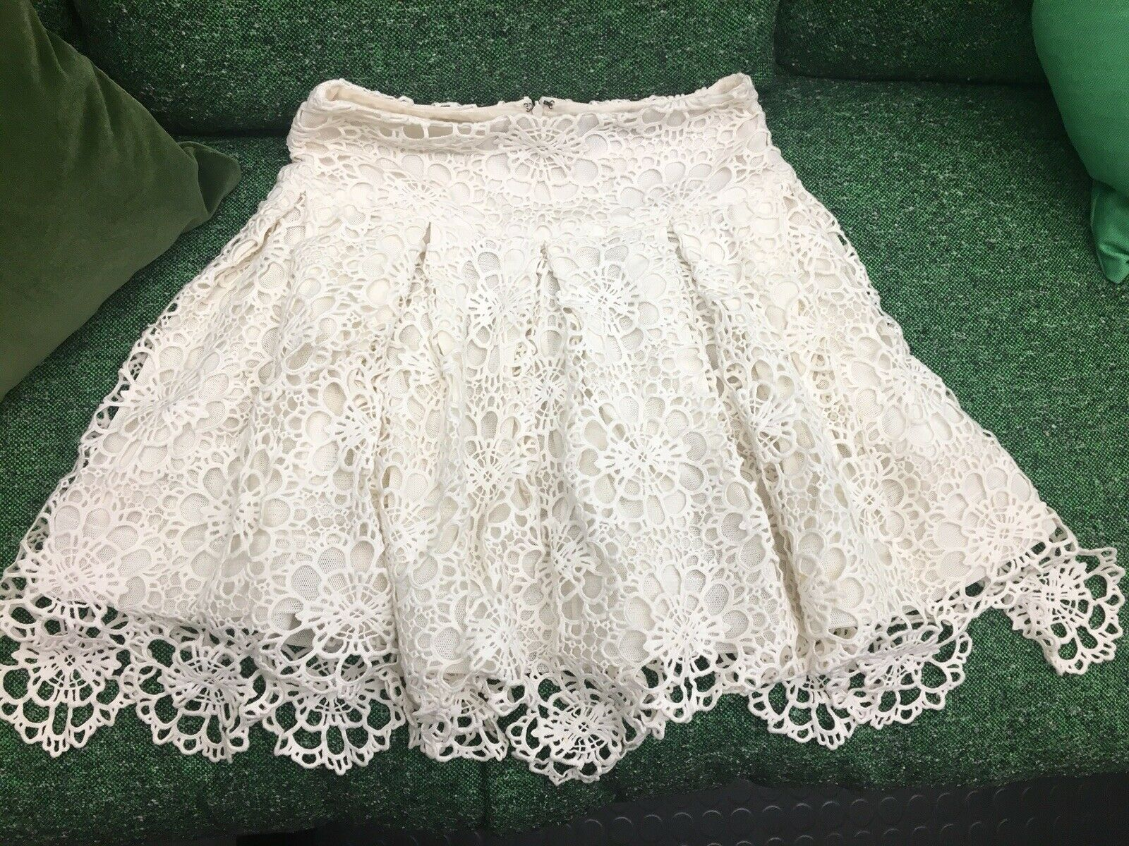 Ralph Lauren women's lace skirt size XS Cream