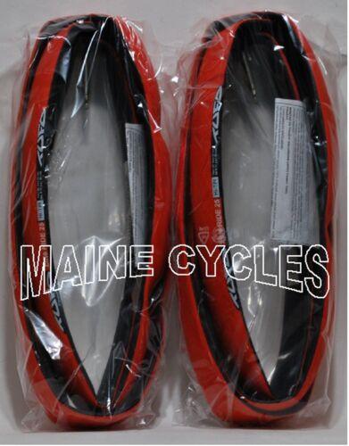 black NEW Tufo Elite Ride tubular 700 x 25 red 2 tires WHITE TUFO LABEL