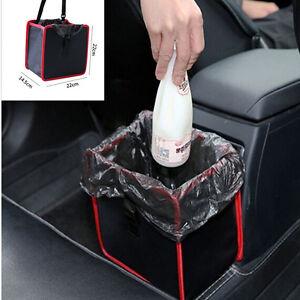 Autos Basket Trash Bag Car Can Litter Garbage Leak Proof Bin Wastebasket Holder