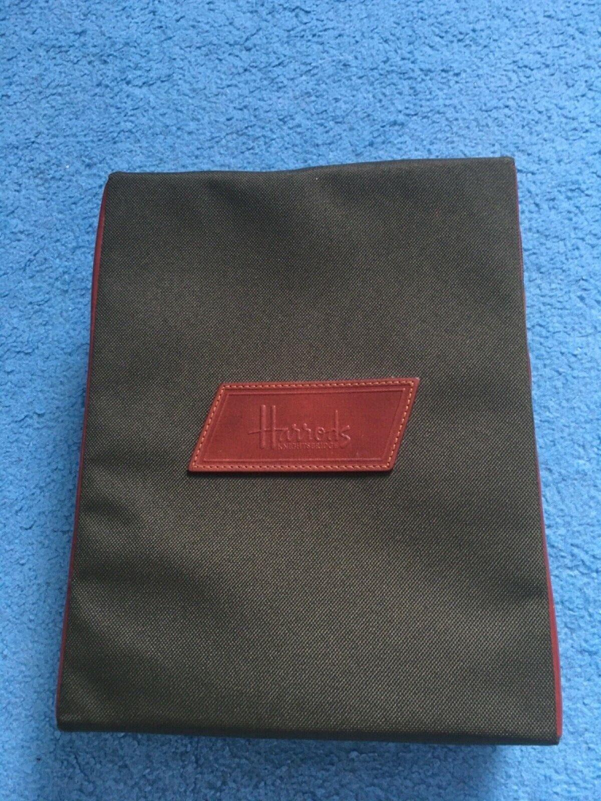 "New Harrods Stuffed Shirt Travel zip bag tidy business Vintage 11"" x 8,5"""