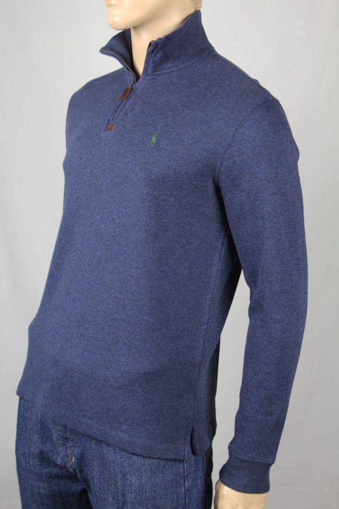 Polo Ralph Lauren XX-Large XXL bluee 1 2 Half Zip Sweater Green Pony NWT