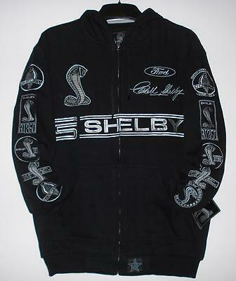 SIZE M Mustang Shelby Adult Hoodie Embroidered  cotton JH design  Med