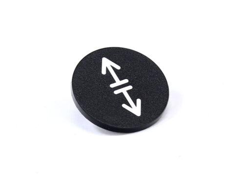 Klöckner-Moeller RMQ-22 54T Button Plate Black// Druck-Tastenplatte schwarz Ø23mm