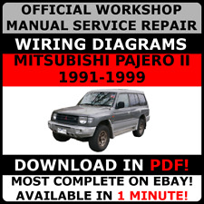 official workshop repair manual for mitsubishi pajero ii 1991-1999 wiring #