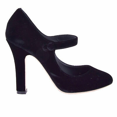 black velvet mary jane heels