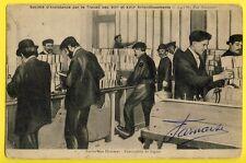 cpa Rare 75 PARIS Société Travail 141 rue SAUSSURE ATELIER FABRICATION de LIGOTS