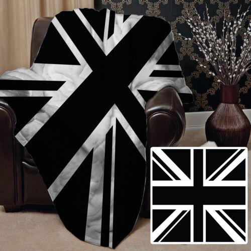 Black /& White Union Jack Design Soft Fleece Throw utilisantun Great Poison Idea