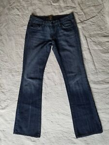 WOMEN-039-S-7-FOR-ALL-MANKIND-BOOT-CUT-DENIM-JEANS-SIZE-29-EMBELLISHED-POCKETS