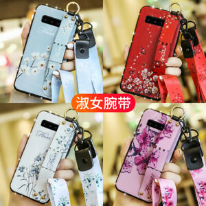 Bling-Wristband-Flower-strap-Phone-Case-For-Apple-iPhone-X-XS-Max-7-8-amp-Samsung