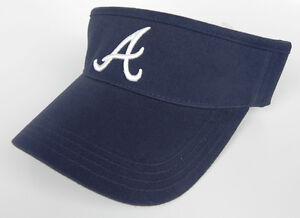 ATLANTA-BRAVES-NAVY-MLB-VINTAGE-VISOR-CAP-HAT-BY-ANNCO-NWT