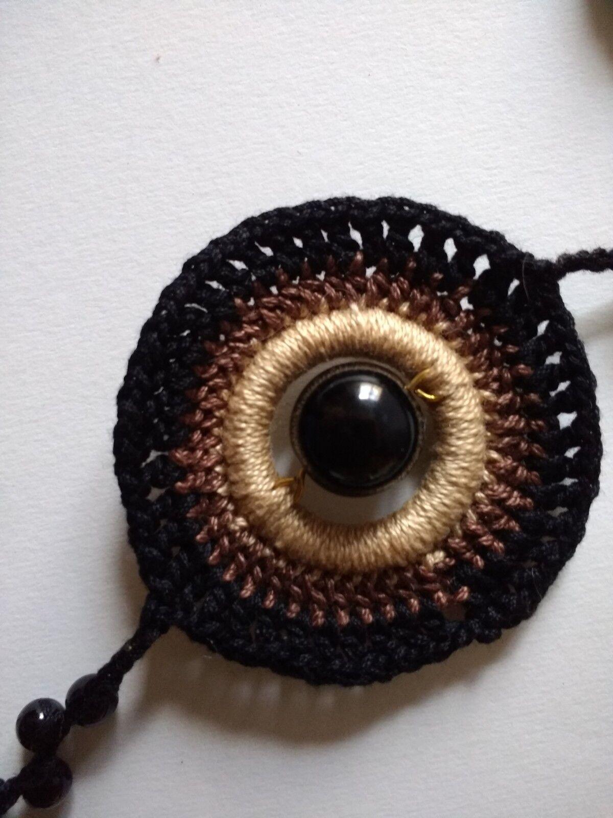Collana lunga elegante artigianale uncinetto creativo gioiello gioiello gioiello alla moda d09efe