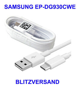 Samsung-EP-DG930CWE-Type-C-USB-C-DATENKABEL-Schnell-Ladekabel-1-2m-S8-Typ-C