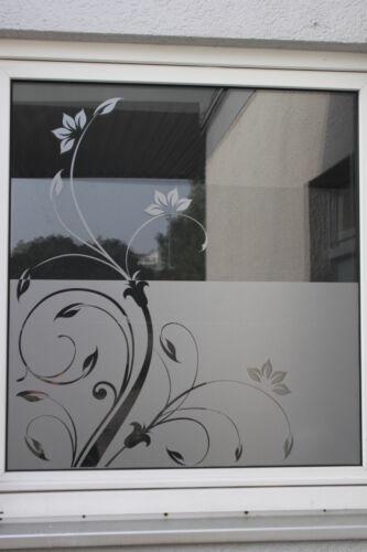 Glasdekorfolie Fensterfolie Sichtschutz Folie Milchglasfolie Retro Floral 2 Set
