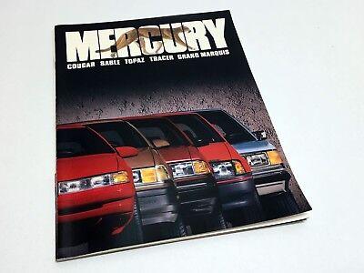1988 Mercury Car Sales Brochure Grand Marquis Cougar Sable Tracer Topaz