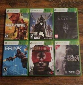 Xbox-360-Lot-6-Games-Skyrim-Homefront-Brink-Medal-of-Honor-Destiny-Max-Payne-3