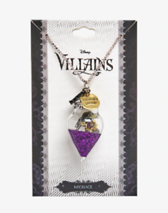DISNEY-VILLAINS-NECKLACE-MALEFICENT-GLASS-ORB-RAVEN-THORNS-NECKLACE-24-3-034