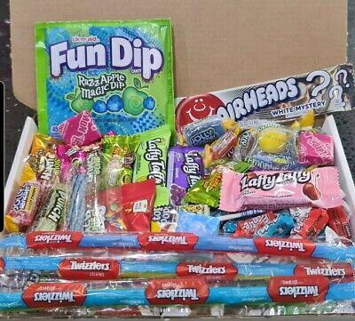 50 American Sweets Gift Box USA Candy Hamper Laffy Taffy ...