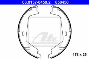 Bremsbackensatz Feststellbremse für Bremsanlage Hinterachse ATE 03.0137-0450.2