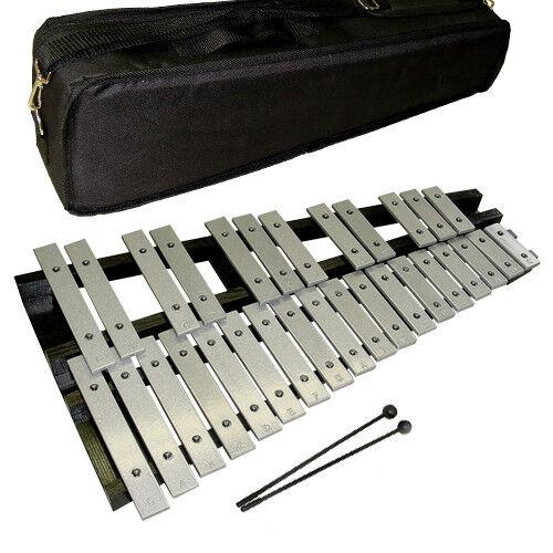 NEUWARE  Metallophon, 30 Klangplatten, 2,5 Oktaven, Xylophon, mit deluxe Tasche