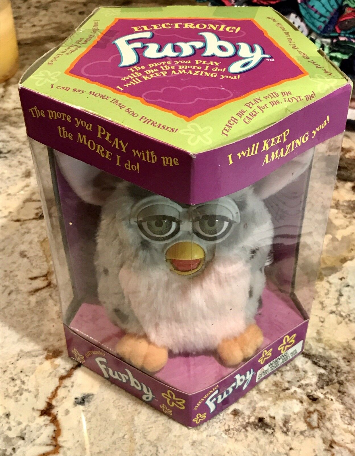 FURBY ORIGINAL1998 MODEL 70-800 TIGER ELECTRONICS NEW WITH TAGS NEVER NEVER NEVER BEEN OPEN 7ada92