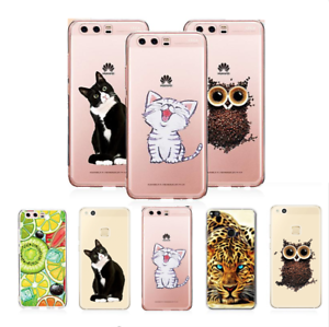 For-HUAWEI-P8-P9-P10-Mate10-Lite-P20-Pro-Soft-Silicon-Cartoon-Cover-Case-Cat-TPU