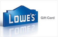 $100 Lowes Physical Gift Card