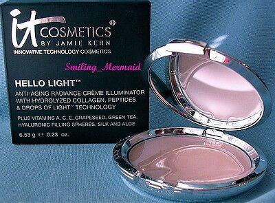 IT Cosmetics HELLO LIGHT Anti-Aging Crème Radiance Illuminator FULL SIZE in Box!