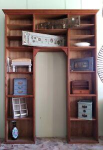 Libreria scaffale antica giorno mensola espositore cantina libri abete originale