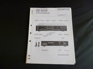 100% QualitäT Original Service Manual Kenwood Ge-5010 Exquisite Traditionelle Stickkunst