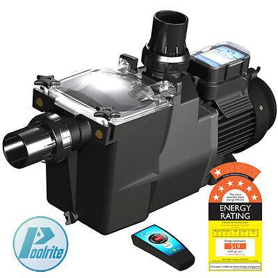 Poolrite SQ/SQI Gemini Energy Efficient ECO Pool Pump. Super Quiet, Remote, 7 St