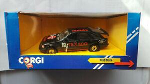 Corgi-Ford-Sierra-2-3-Ghia-Texaco-Rally-C299-3-Sin-Usar-En-Caja-Negro-No-7-En-Caja
