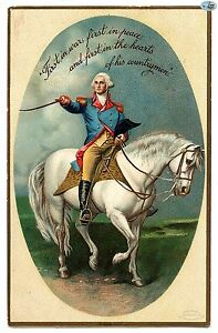 George Washington's Birthday Greetings Antique Embossed Postcard-1900