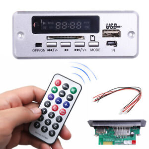 Bluetooth-Car-MP3-Decoder-Board-U-Disk-TF-Panel-Module-with-Remote-Controller