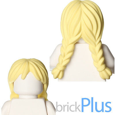 ☀️NEW Lego Minifig Female Blonde Yellow Hair Pigtails High Long Bangs
