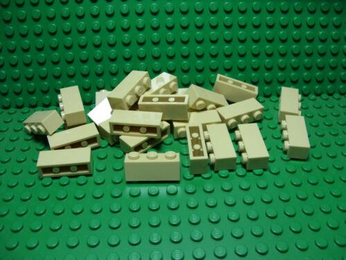 ** 25 CT LOT **  Lego NEW tan 1 x 3 standard bricks   Lot of 25