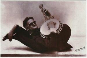 Henri Manuel Contortionist with Banjo Circus Sideshow Modern Postcard