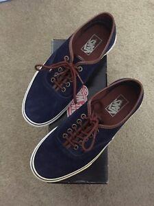 Vans Sneakers Navy Blue Suede Mens 7.5