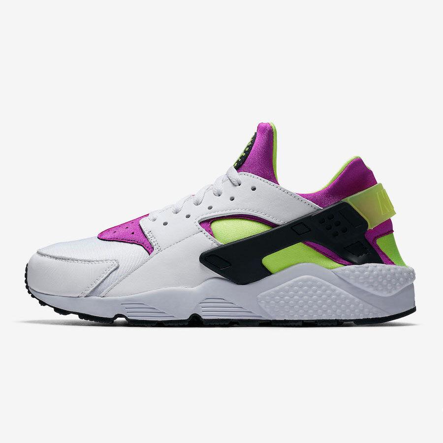 Nike Men's Air NEW Huarache Run '91 QS NEW Air AUTHENTIC White/Neon Yellow AH8049-101 bd8183