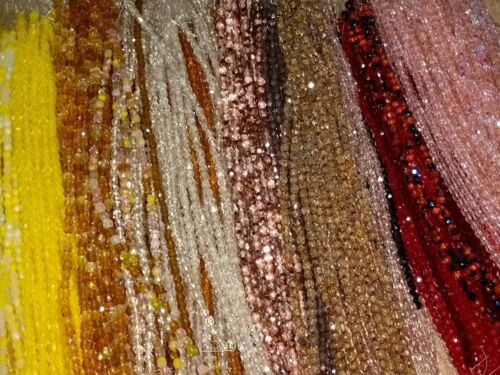 10 STRANDS Assorted Czech Fire Polished Round Beads 3mm 4mm Mixed Colors 500pc