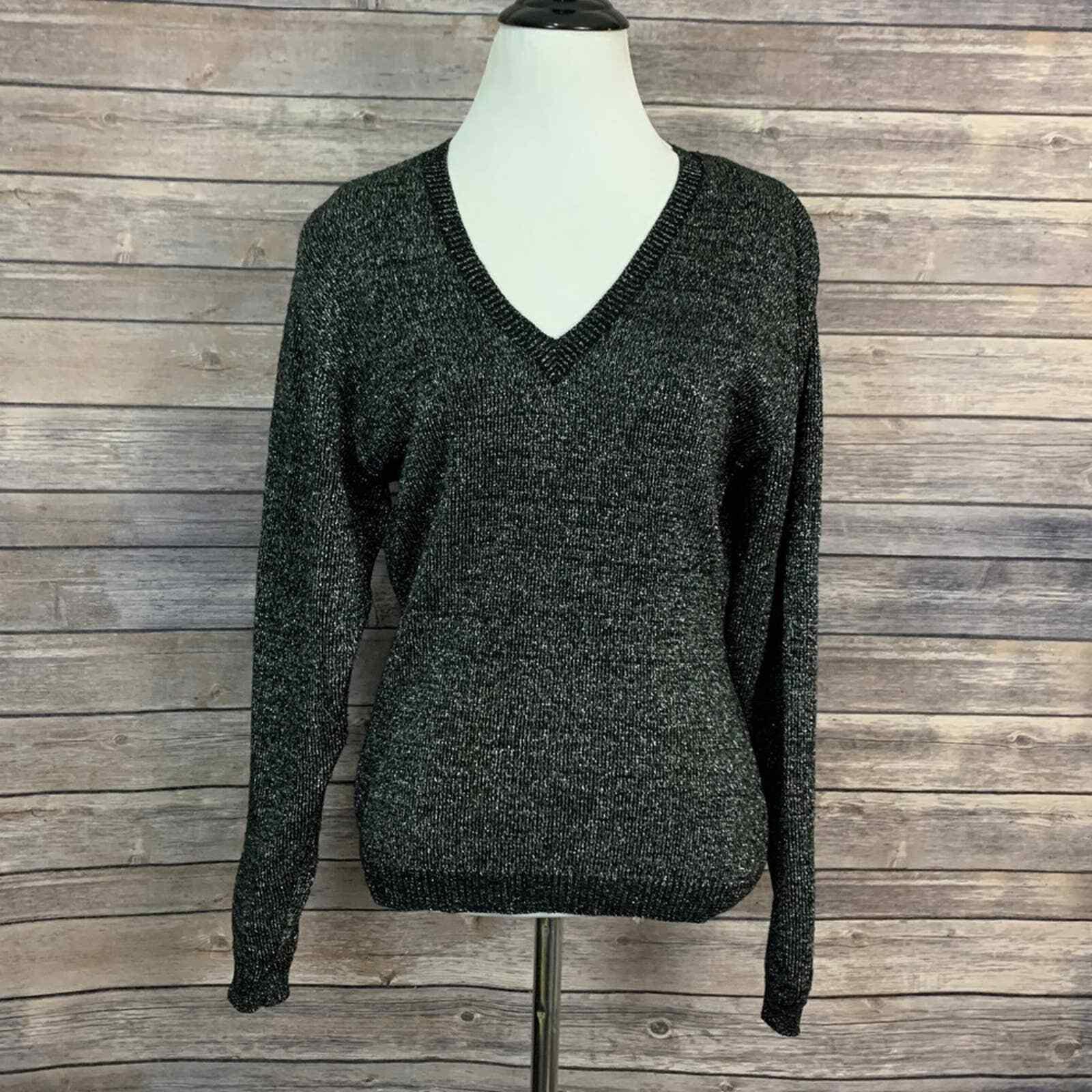 Vintage Kansai Yamamoto Black Metallic Sweater (S… - image 1