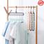 Anti-skid-Rotate-Folding-Hanger-Clothes-Anti-skid-Multifunction-Hanger-Hook-2PCS miniature 1