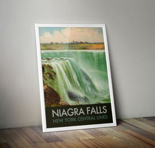 USA 2 A4 Vintage Travel Poster Las Vegas Atlantic City New York Niagra Falls