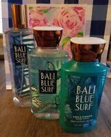 Bath & Body Works Bali Blue Surf Mist Gel Lotion 3 Pc Set Mandarin Coconut Oil