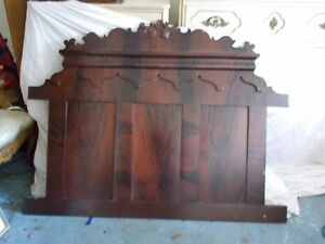 Details About Vintage Antique Wooden Full Size Headboard Sides Footboard