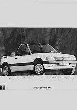 """Peugeot 205 CTI Coche Foto de prensa relacionados con el folleto de ventas"""""""""""